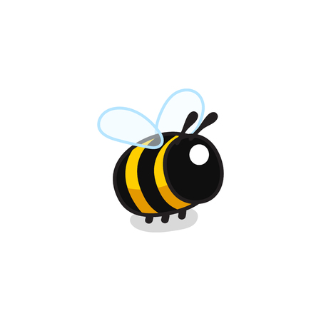 vector cute cartoon insect clip art bee Illusztráció