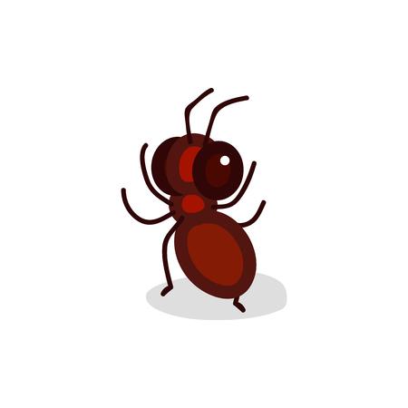 vector cute cartoon insect clip art Ant Vettoriali
