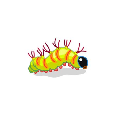 vector cute cartoon insect clip art caterpillar track