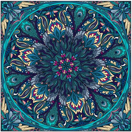 vector seamless pattern mandala floral color art