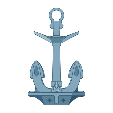 vector flat outline sea icon vintage Anchor