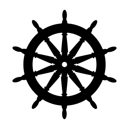vector silhouette graphic black handwheel clip art