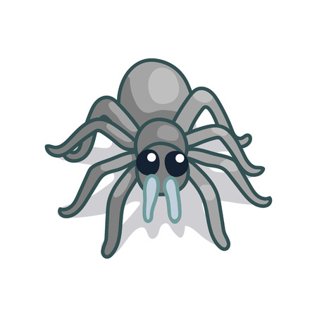 vector cute cartoon insect clip art spider