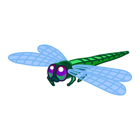 vector cute cartoon insect clip art dragonfly