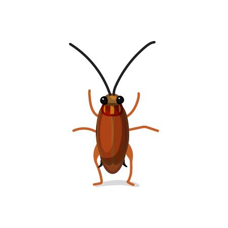 Vektor niedlichen Cartoon Insekt ClipArt Kakerlake