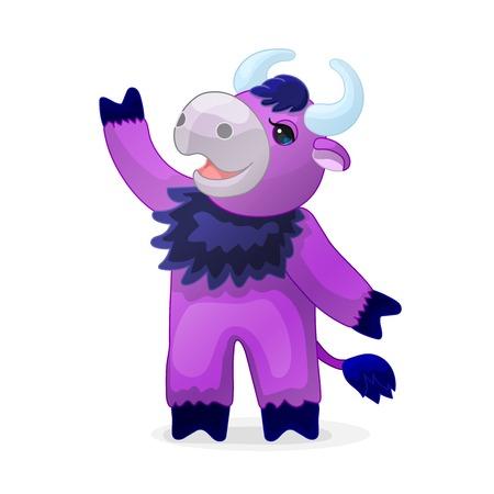 vector cartoon animal clipart: bull, ox, taurus