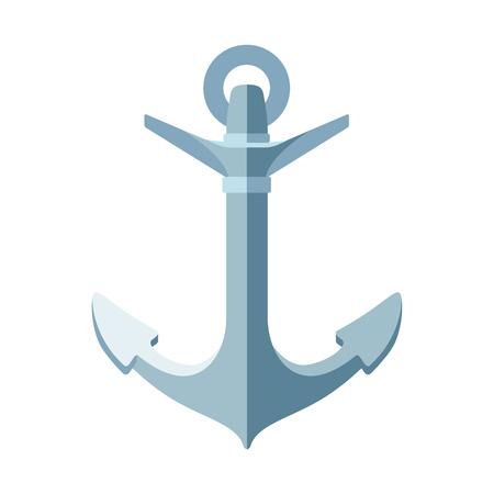 vector flat sea ocean maritime icon vintage Anchor