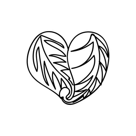 vector scribble line heart hand drawn art Ilustração
