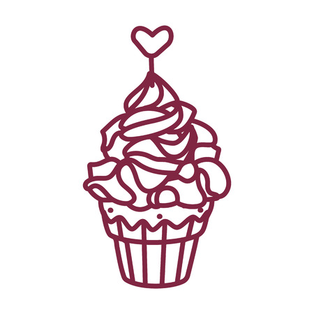 vector cute cupcake sweets coloring book page 일러스트