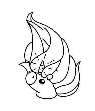 vector cute baby unicorn kids coloring book page Vektoros illusztráció