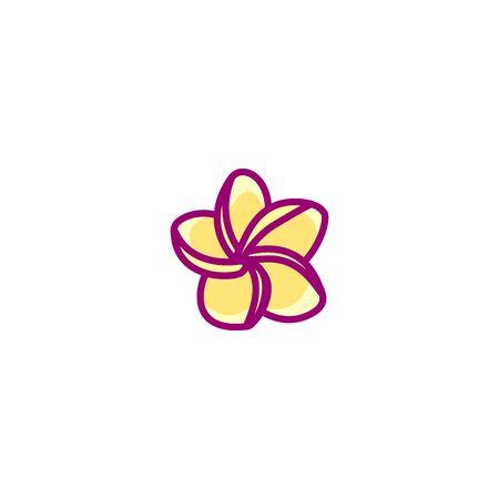 vector handdrawn cute plant clip art exotic flower Иллюстрация