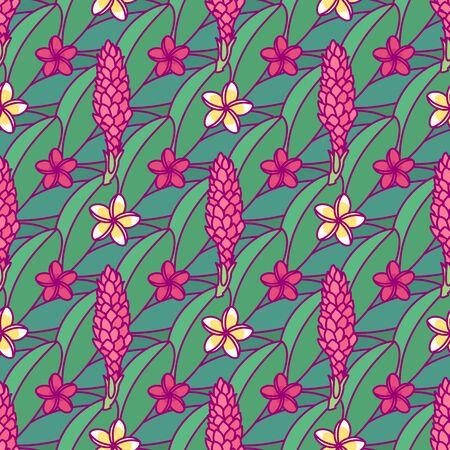 vector tropical plants seamless pattern clip art