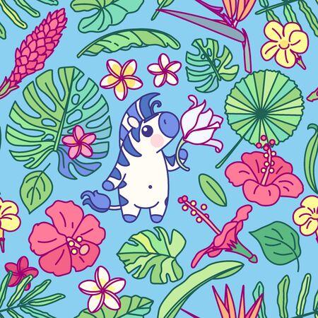 vector cute zebra seamless pattern clip art