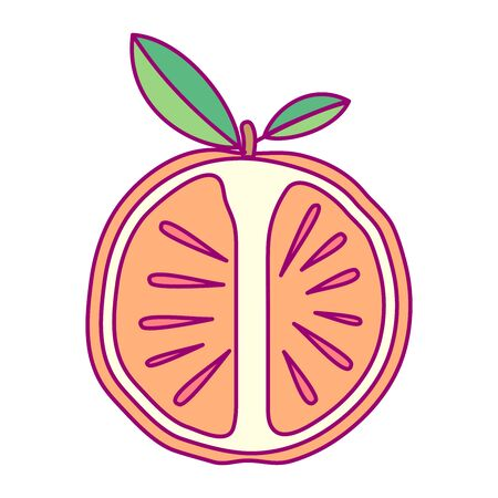 vector cute drawn fruit clip art citrus