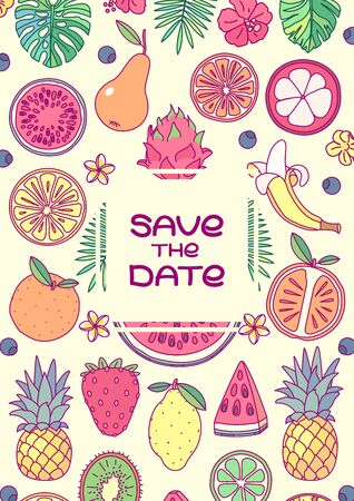 vector save the date invitation template concept