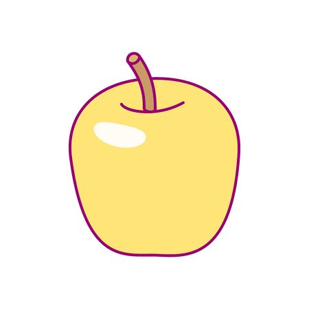 vector cute drawn fruit clip art apple