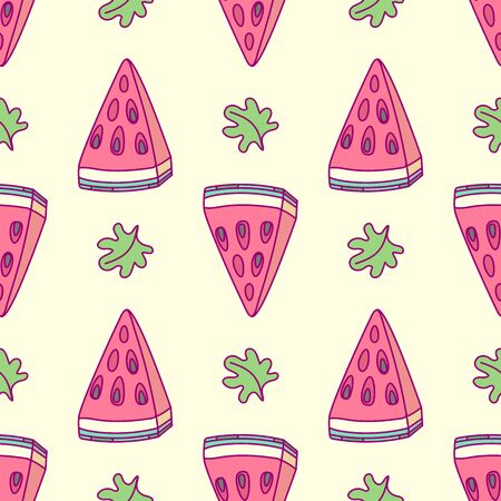 vector tropical food seamless pattern clip art