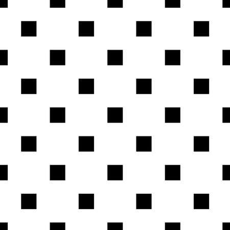 vector black white seamless pattern square, quadratic Vectores