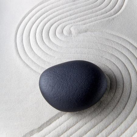 relaxation zen garden, zen stone with raked sand Stock Photo - 26464157
