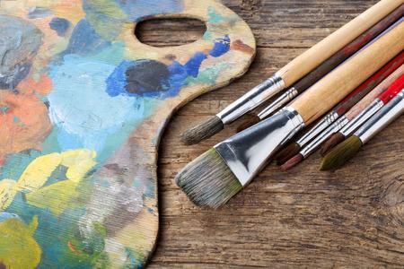 pallette: Brosses et coloré presque abstraite palette