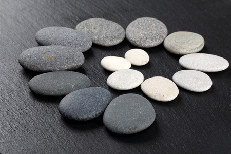 stone background: Black and white stones on rock background