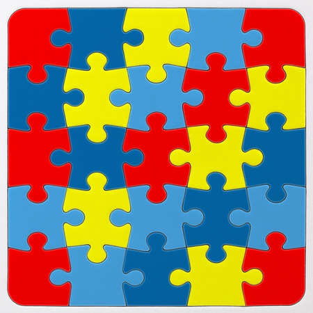 Autism Awareness puzzle pattern