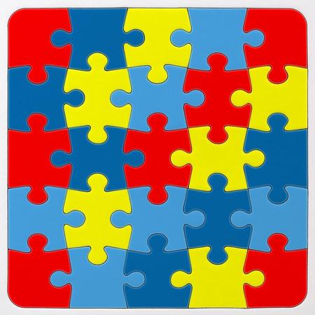 Autism Awareness puzzle pattern