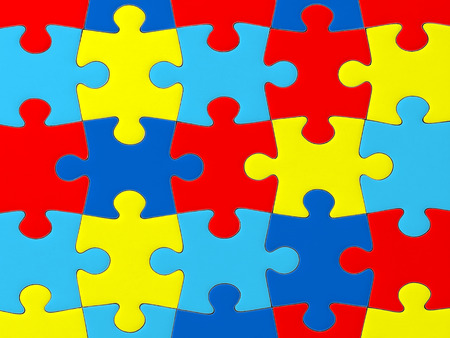 Autism Awareness puzzle pattern photo
