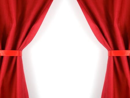 cortinas rojas: cortinas rojas cinta atada aislada en blanco