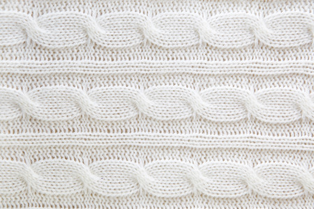 cable stitch: White wool knitted sweater background