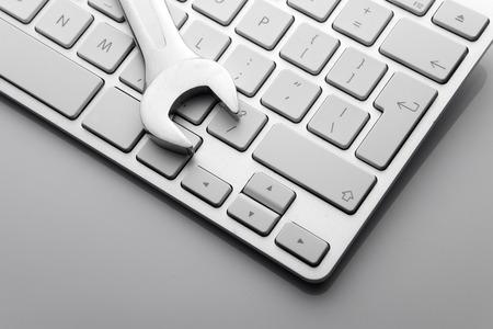 keyboard: Concepto electr�nico de apoyo t�cnico - Llaves de teclado de ordenador