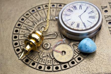 점성술을 통해 미래를 예언합니다. 평면도. 스톡 콘텐츠