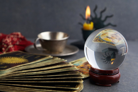 Composition of esoteric objects, used for healing and fortune-telling Standard-Bild