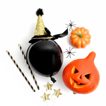 Halloween party decoration on a white background
