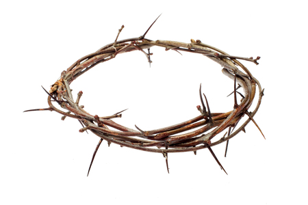 Dornenkrone Jesus Christus isoliert auf weiß Standard-Bild