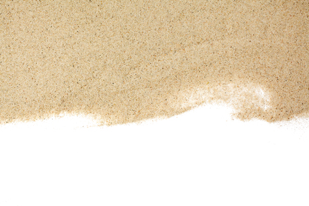 closeup of a pile of sand of a beach or a desert on a white background Banque d'images