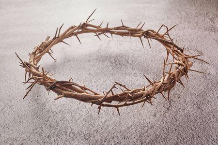 Jesus Christus Dornenkrone. Religionshintergrund. Ostern-Symbol. Kreuzigung Jesu Christi.
