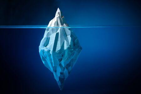White iceberg on deep blue background. Environment concept. Winter concept. Ocean underwater background. Stockfoto