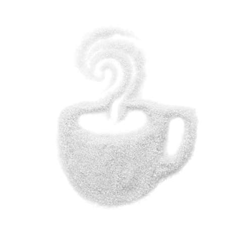 White sugar of the shape of a cup isolated on white background Фото со стока
