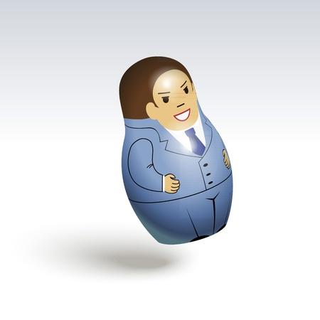 Illustration of an office worker matrioshka Stock Vector - 13438750
