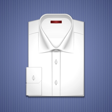 Illustration of a classic white shirt Stock Vector - 13438747