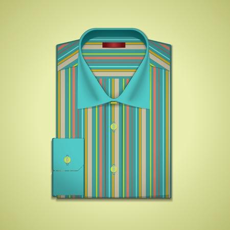 v�tements pli�s: Illustration d'une chemise ray�e