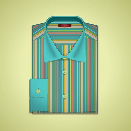 folded clothes: Illustration of a striped shirt Illustration