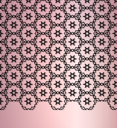 The abstract lace background