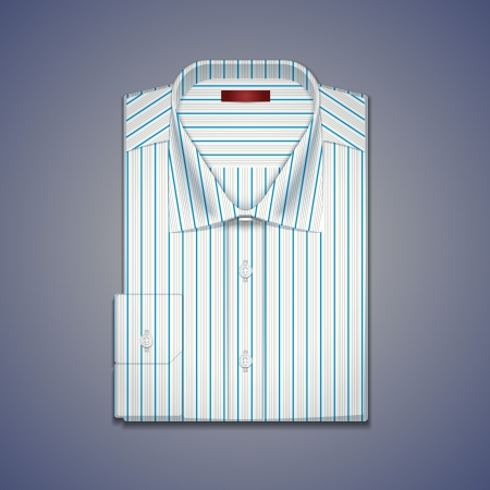 Vector illustration of a classic mens shirt with stripes Illustration