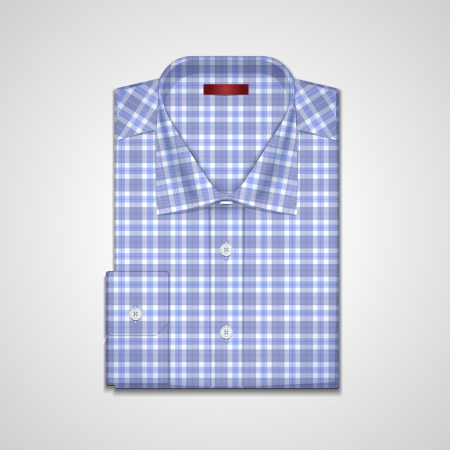mans shirt: A vector image is a classic mans shirt of tattersall Illustration