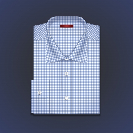 A vector image is a classic mans shirt of tattersall Illustration