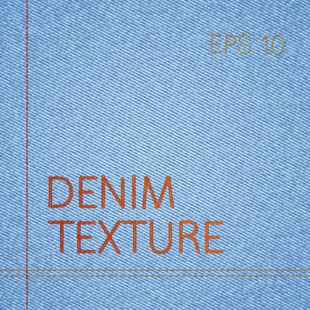 Vector background of classic blue jeans texture