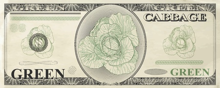 grant: A humorous image of banknotes, vector illustration Illustration