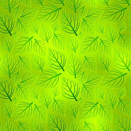 Vector seamless pattern of organic green Ilustrace